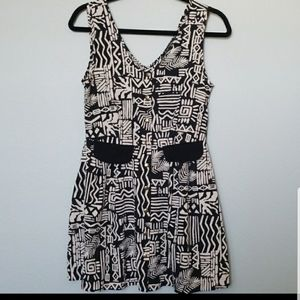Foreign exchange tribal print dress small